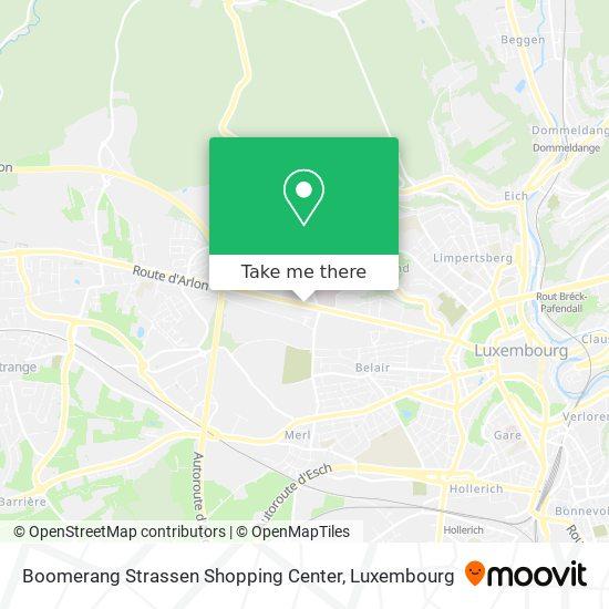 Boomerang Strassen Shopping Center map