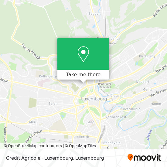 Credit Agricole - Luxembourg map
