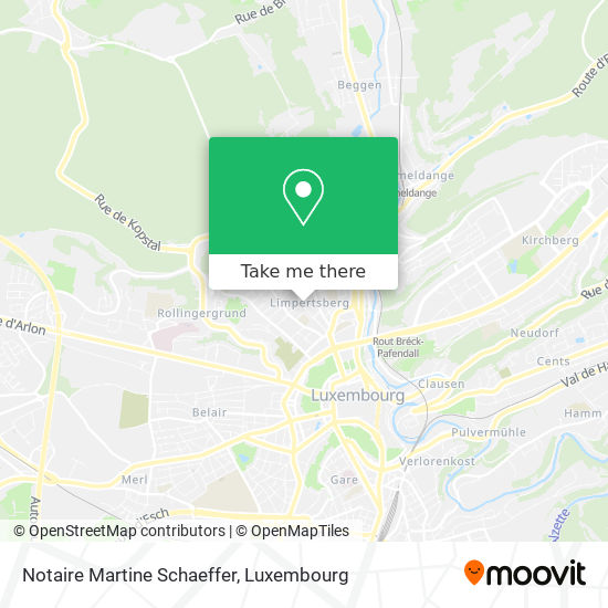 Notaire Martine Schaeffer map