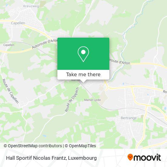 Hall Sportif Nicolas Frantz map