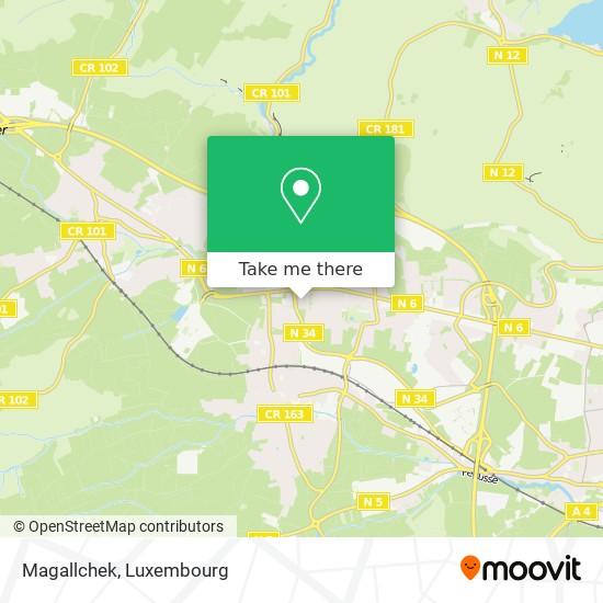 Magallchek Karte