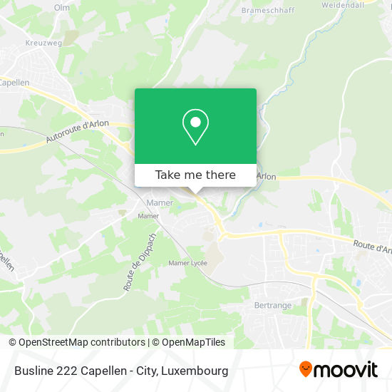 Busline 222 Capellen - City map