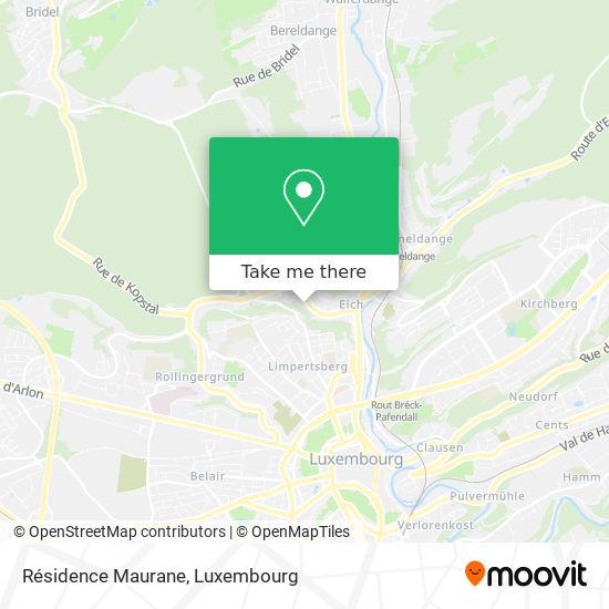 Résidence Maurane map