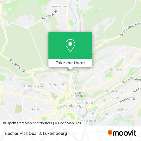 Eecher Plaz Quai 3 map