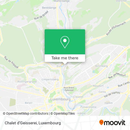 Chalet d'Geisserei map