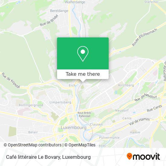 Café littéraire Le Bovary map