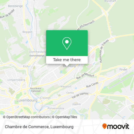 Chambre de Commerce map