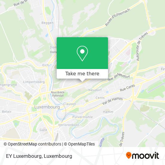 EY Luxembourg map
