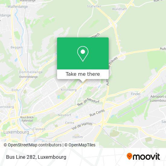 Bus Line 282 map