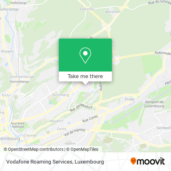 Vodafone Roaming Services map