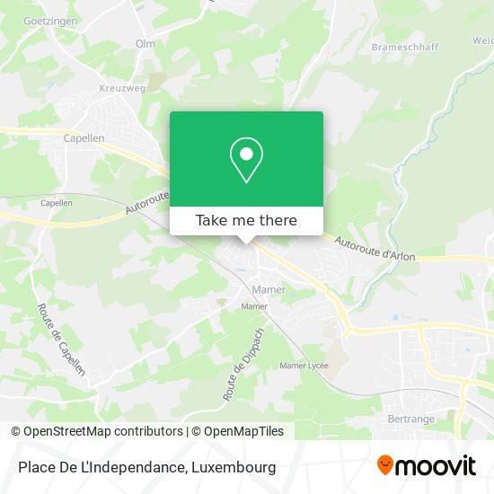 Place De L'Independance map
