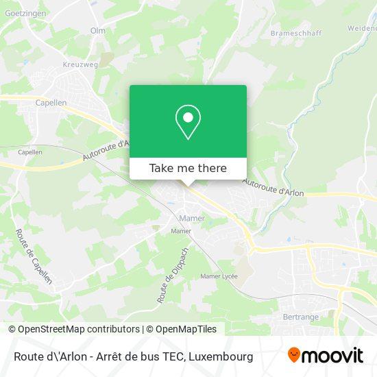 Route d\'Arlon - Arrêt de bus TEC map