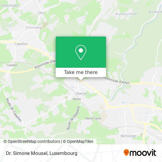 Dr. Simone Mousel map