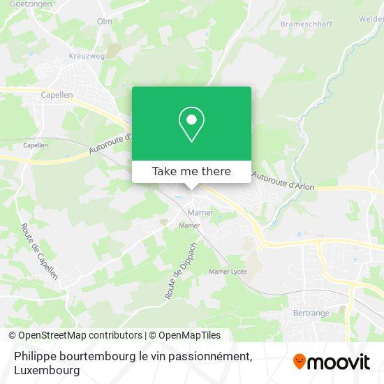 Philippe bourtembourg le vin passionnément map