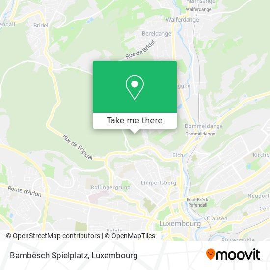 Bambësch Spielplatz map