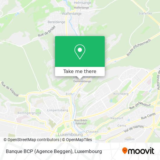 Banque BCP (Agence Beggen) map