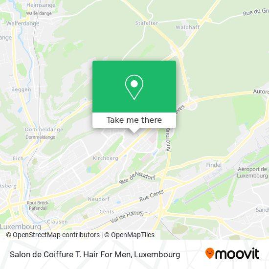 Salon de Coiffure T. Hair For Men map