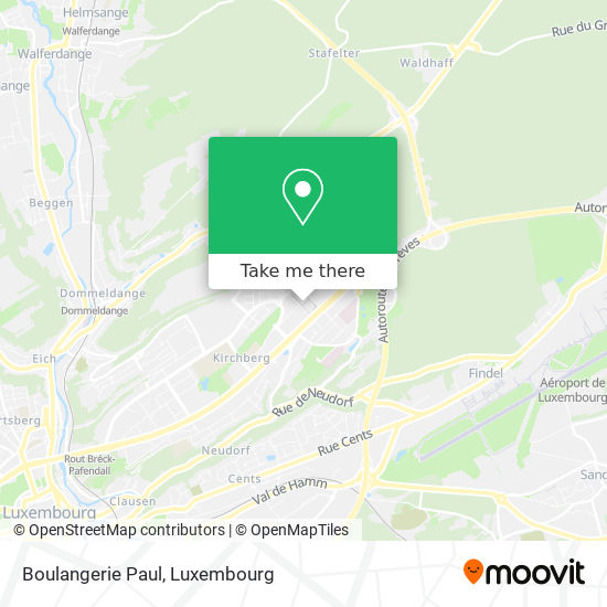 Boulangerie Paul map