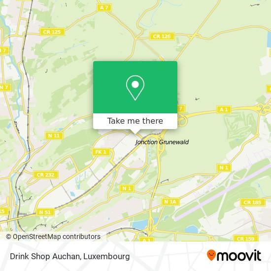 Drink Shop Auchan map