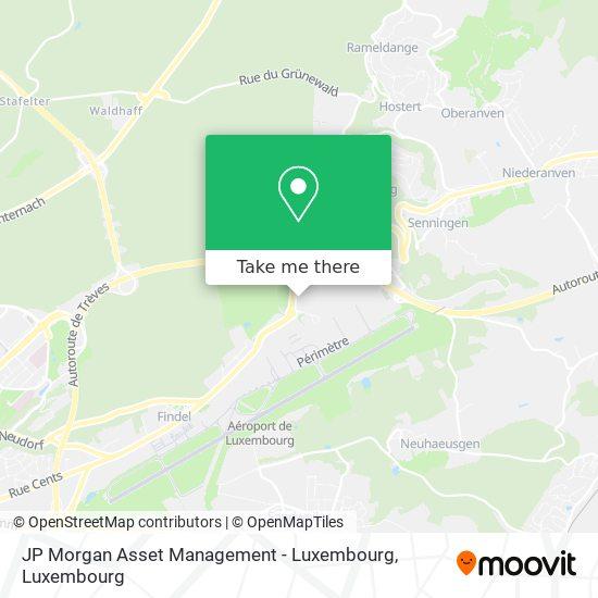JP Morgan Asset Management - Luxembourg map