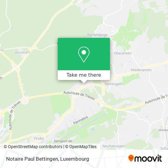 Notaire Paul Bettingen map