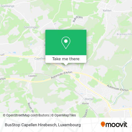 BusStop Capellen Hirebesch map