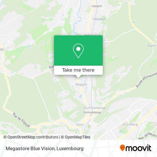Megastore Blue Vision map