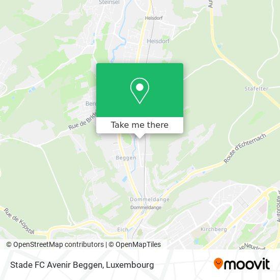 Stade FC Avenir Beggen map