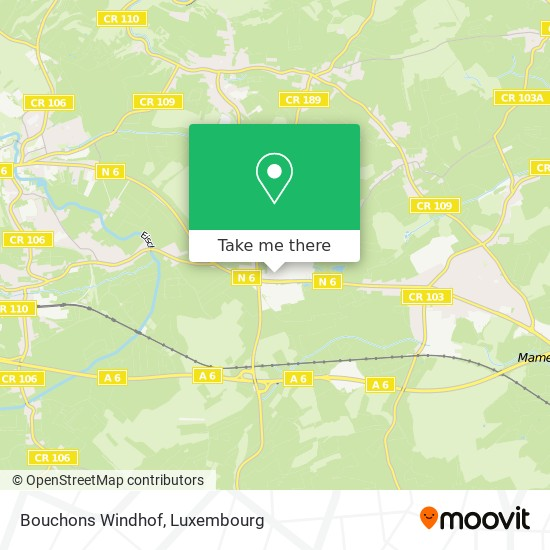 Bouchons Windhof map
