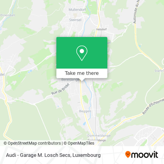 Audi - Garage M. Losch Secs map