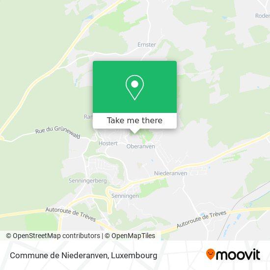 Commune de Niederanven map