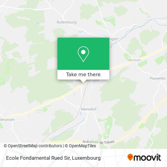 Ecole Fondamental Rued Sir map
