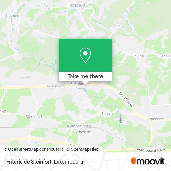 Friterie de Steinfort map