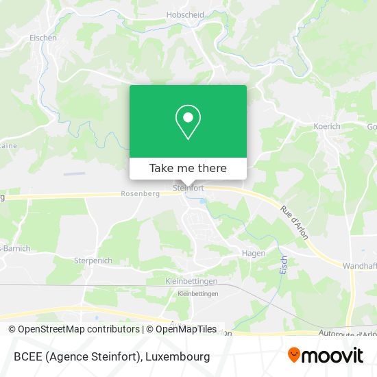 BCEE (Agence Steinfort) map