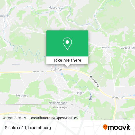 Sinolux sàrl map