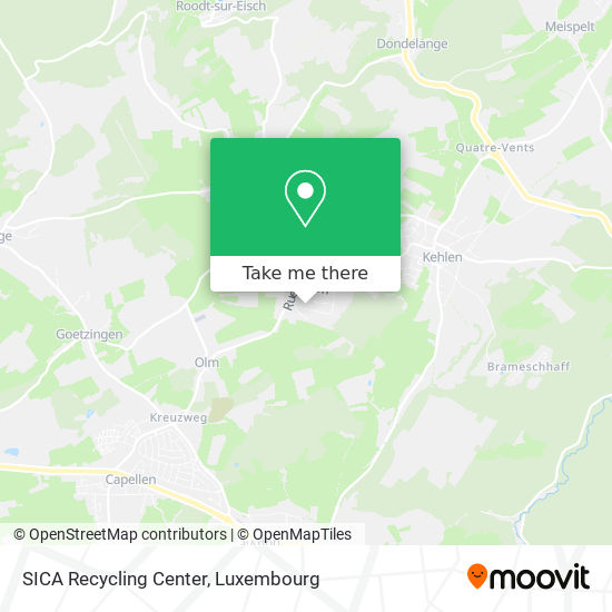 SICA Recycling Center map