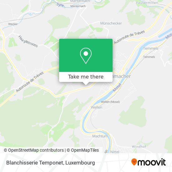 Blanchisserie Temponet map