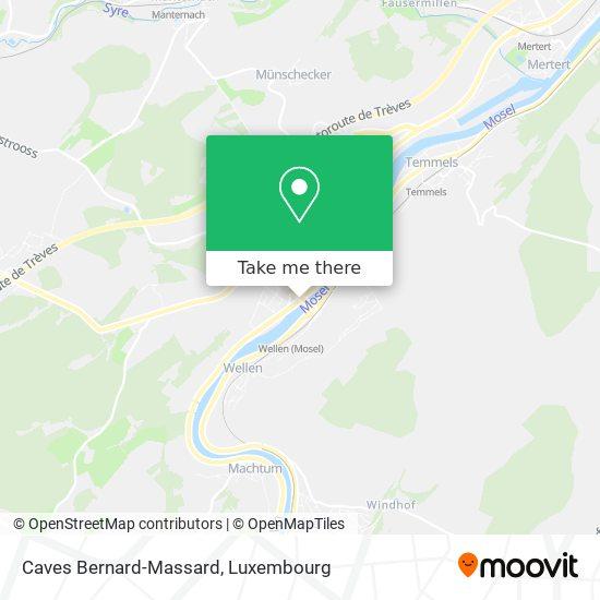 Caves Bernard-Massard map
