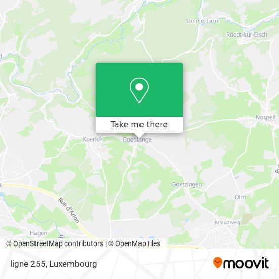 ligne 255 map