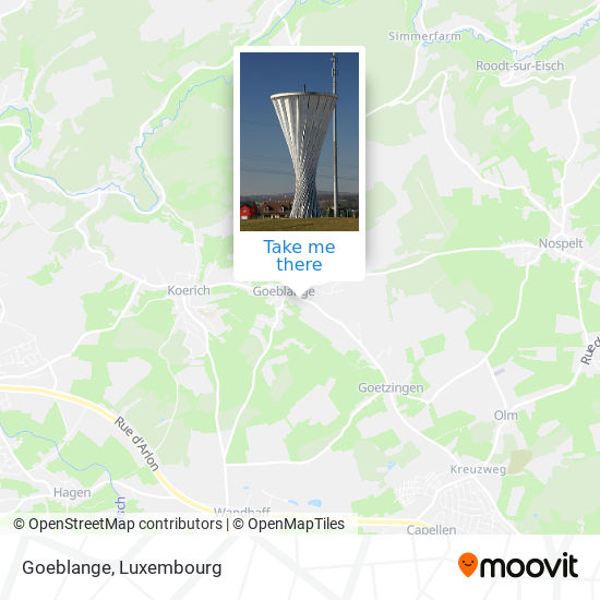 Goeblange map