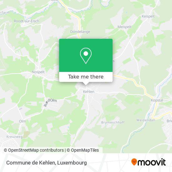 Commune de Kehlen map