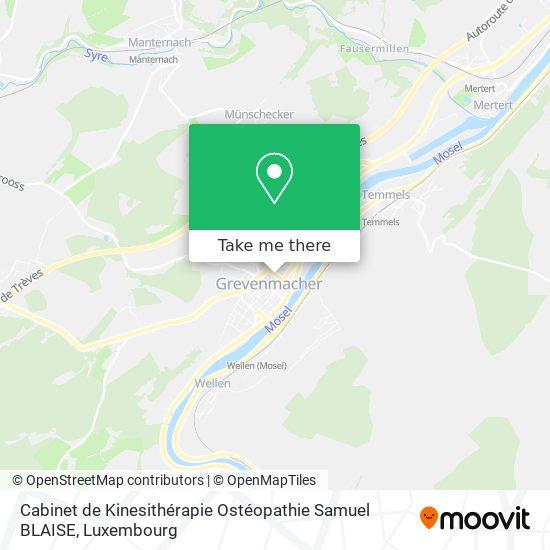 Cabinet de Kinesithérapie Ostéopathie Samuel BLAISE map