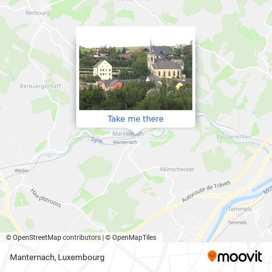 Manternach map