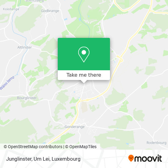 Junglinster, Um Lei map