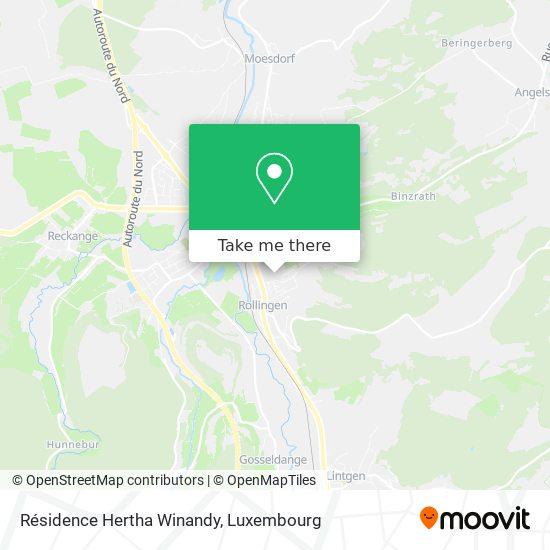 Résidence Hertha Winandy map