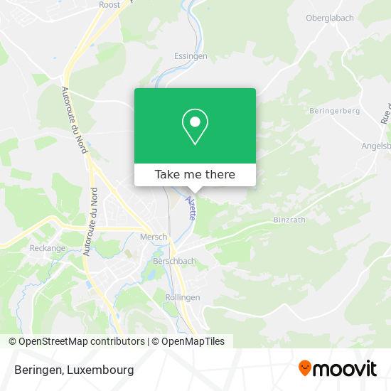 Beringen map
