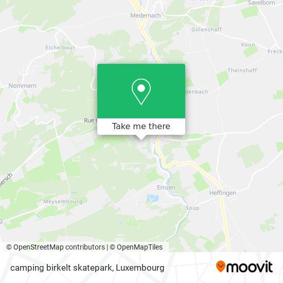 camping birkelt skatepark map