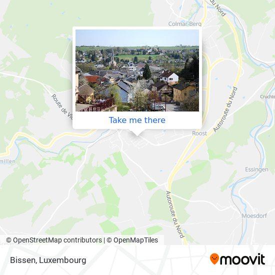 Bissen map