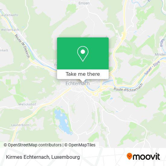 Kirmes Echternach map