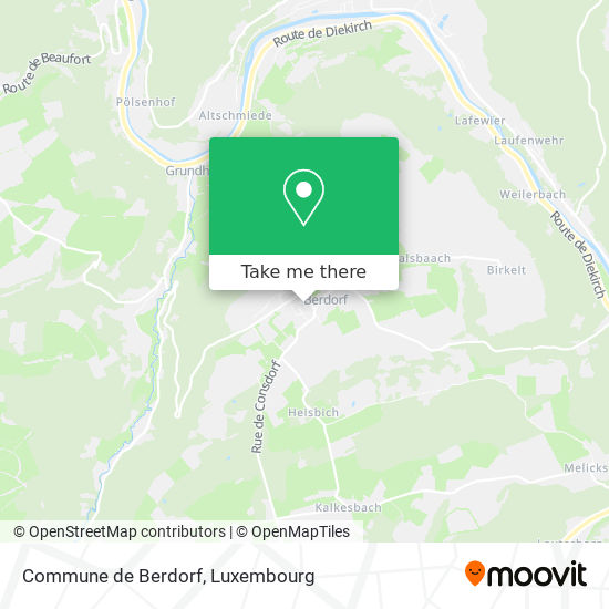 Commune de Berdorf map